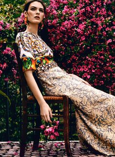 74aa569c336f Vittoria Ceretti in Dolce Gabbana for Marie Claire Summer 2014 Hippie  Gypsy