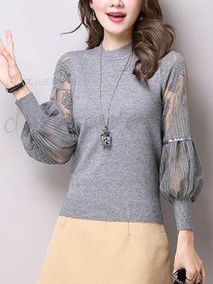 新作全3色透かし彫り袖のかわいいセーター 12679207 - セーター - Doresuwe.Com