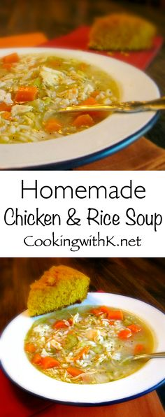 Cooking with K - Southern Kitchen Happenings: Homemade Chicken & Rice Soup (Quick Soup Recipes)