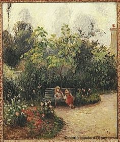Camille Pissarro  Corner of the Garden at the Hermitage. Pontoise  1877  oil on canvas  H. 0.55, L. 0.46  Musée d'Orsay, Paris, France