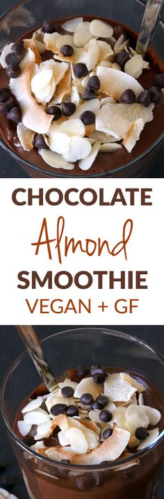 Rich and Creamy Chocolate Almond Smoothie (vegan, dairy-free, grain-free, gluten-free and grain-free)