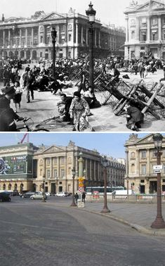 The World War II in the Europe erupted when the Nazi attacked Poland. Have a look at these stunning before and after pictures that show the destructions of war, different places, people, monuments and the landscapes of Europe. Syria Before And After, Before After Photo, Before And After Pictures, Herbert Von Karajan, Canadian Soldiers, American Soldiers, Monuments, Paris In September, Rome Pictures