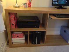 Ikea hack - expedit unit made into desk