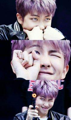 Love that purple hair on RapMon BTS Taehyung, Jimin Jungkook, Bts Bangtan Boy, Seokjin, Kim Namjoon, Bts Rap Monster, Yoonmin, Mixtape, Jikook