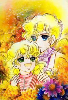 Georgie and Lowell Grey by Mann Izawa•Art of Yumiko Igarashi color sleeve ✤ || ジョージィ! (Jōjī!) • concept art, #shojo clasico #historieta #anime #cartoni #animati #comics #cartoon from the art Yumiko Igarashi || ✤ #Georgie, レディジョージィ Redi Jōjī 1982- Shojo comic