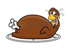 turkey: Funny Face Turkey Chicken Illustration