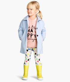 love the color of the jacket. and yellow rain boots of course