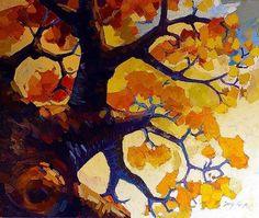 "Daily Paintworks - ""Goldener Herbst"" - Original Fine Art for Sale - © Jurij Frey"