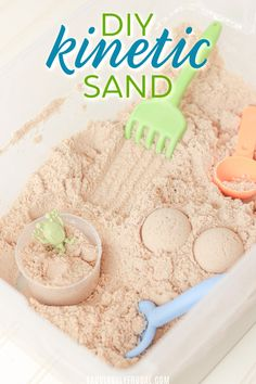 Sensory sands like Kinetic Sand and Moon Sand are a lot of fun for kids of all ages. They can be very pricey though! With just a few ingredients some you may already have on hand you can make your own batch for a fraction of the cost. Easy Christmas Crafts For Toddlers, Toddler Crafts, Diy Crafts To Sell, Diy Crafts For Kids, Craft Ideas, Kinectic Sand, Diy Moon Sand, Homemade Moon Sand, Make Kinetic Sand