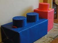 How to create giant Lego blocks! Great decorations for Workshop of Wonders VBS! #firstpresorangeburgvbs