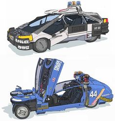 80s blade_runner car cyberpunk oekaki oldschool police science_fiction simple_background spinner