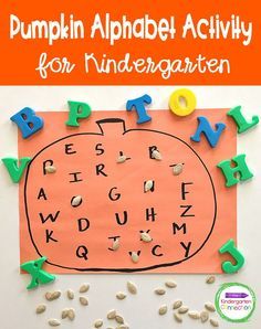 Do you ever have those days when planning another fun, themed literacy centers activity that your children will love can feel overwhelming? That's why I'm here to help you out this fall with this Easy Pumpkin Alphabet Activity that is perfect for your Pre-K or Kindergarten classroom! Subitizing Activities, Word Family Activities, Alphabet Activities, Literacy Skills, Kindergarten Literacy, Activity Centers, Literacy Centers, Pumpkin, Halloween