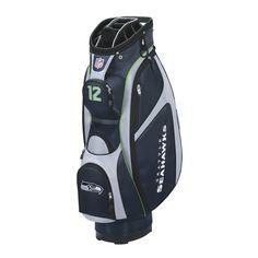 NFL Seattle Seahawks Cart Golf Bag, Navy/Grey, One Size