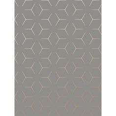 This Metro Illusion Geometric Wallpaper in Charcoal and Copper features contemporary metallic elements and is part of the World of Wallpaper Metro Collection. Free UK delivery available. Kids Bedroom Wallpaper, Hallway Wallpaper, Accent Wallpaper, Feature Wallpaper, Print Wallpaper, Home Wallpaper, Livingroom Wallpaper Ideas, Geometric Wallpaper Charcoal, Metallic Wallpaper