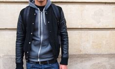 i really want a leather jacket! or one like this, jusy with leather!