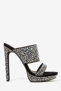 Jeffrey Campbell Etta Jeweled Suede Heel - Open Toe   Jeffrey Campbell      Platforms   Sandals   Heels
