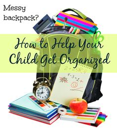 """For some children, what they think they should take home doesn't always match what the teacher needs them to take home. Here are some simple and effective strategies you can use to help your kids get the """"right stuff"""" into their backpacks and home from school. #organization #parents"""