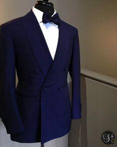 midnight blue tux - Style & Suits by Blazer Outfits Men, Stylish Mens Outfits, Midnight Blue Mens Suit, Dress Suits For Men, Men Dress, Designer Suits For Men, Mens Clothing Styles, Clothing Accessories, Men's Clothing