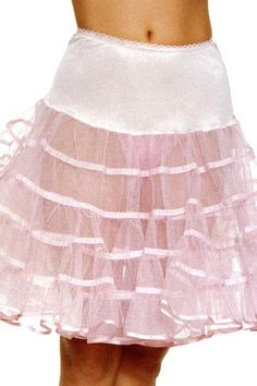 Net petticoats to make your skirt fuller....but the itched!