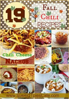 19 Chili Recipes from top foodie blogs! These are tasty recipes to get you in the Fall cooking mood! #foodie #chili #fallrecipes #fall #recipes A better pic is at http://porkrecipe.org/posts/19-Chili-Recipes-from-top-foodie-blogs-These-65861