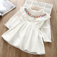 Hurave 2018 Baby Girl O-NECK embroidery Dress Clothes Children Long Sleeve clothing Casual cotton ruffles DressesGirls Ruffles Floral Dress Silhouette: A-Line Model Number: Decoration: Embroidery Sleeve Length(cm): Full Dresses Length: Knee-Length Fi Kids Dress Wear, Kids Gown, Little Girl Dresses, Frock Patterns, Baby Girl Dress Patterns, Baby Frocks Designs, Kids Frocks Design, Cotton Frocks For Kids, Girls Frock Design