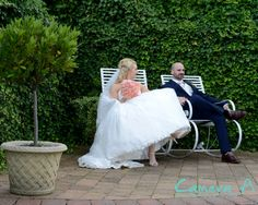 Your wedding day can be tiring, as you can see in this image the bride and groom needed to rest their legs.