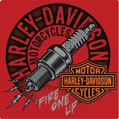 Harley-Davidson® Fire One Up Metal Sign - Free Shipping on Orders Over $99 at Genuine Hotrod Hardware