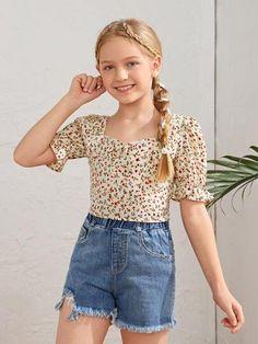Preteen Fashion, Teen Girl Fashion, Girls Fashion Clothes, Teen Fashion Outfits, Outfits For Teens, Kids Fashion, Pretty Outfits, Cute Outfits, Cute Little Baby Girl