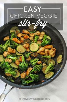 This easy chicken stir fry with vegetables packs a flavorful and nutritious punch! It comes together incredibly fast, and you can switch out veggies based on preference and time of year. Perfect for a quick lunch or dinner!