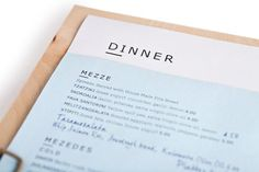 Clean Greek menu design is easy to digest. Design by The Republik.
