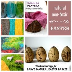 How to have a handmade, non-toxic, natural Easter