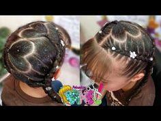 TRENZAS AFRICANAS/ BOXEADORAS CON DISEÑO DE CORAZONES/ Peinados Rakel 6 - YouTube Hair Dos, Hair Beauty, Dreadlocks, Hair Styles, Youtube, Videos, Fashion, Up Dos, Cute Kids Hairstyles