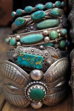 Silver Turquoise  Tribal Jewellery Turchesi e argento
