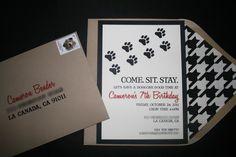 doggie birthday invites.... i definitely sent invites for my dog's birthday last year : )