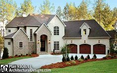 Plan Spacious European House Plan with Extras - A huge open floor plan makes this regal European house plan shine.There are only two walls in the f - The Plan, How To Plan, European House Plans, European Home Decor, Basement House Plans, House Floor Plans, Architectural Design House Plans, Architecture Design, Contemporary Home Decor