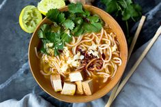 National Soup Day: Lime Broth with Laksa Noodles - The Honest Company Blog
