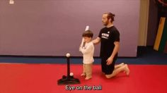 This adorable kid who did precisely what his coach told him to do.