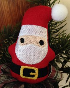 Stuffed Embroidered Santa Gnome by CrazyMomOf3Creations on Etsy, $5.00