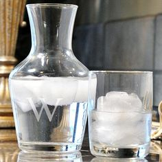 Gift idea: Monogram Carafe Set. #giftideas HomeDecorators.com
