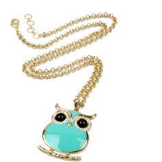 Miami Owl Pendant (1.200 CZK) ❤ liked on Polyvore featuring jewelry, pendants, necklaces, owl jewellery, owl pendant jewelry, amrita singh, owl pendant and charm pendant