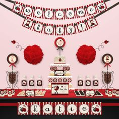 adorable lady bug baby shower stuff!