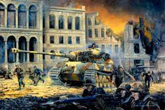 El Unterscharfurher Karl-Heinz Turk, del 503 Pz.Abt, defiende con su Tiger II la plaza de Potsdammer, junto a elementos de la División Munchberg, cortesía de David Pentland.