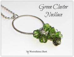 Floral Cluster Pendant Necklace Tutorial