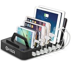 7-Port Hub USB Desktop Universal Charging Station Multi Device Dock for all Smartphones and Tablets