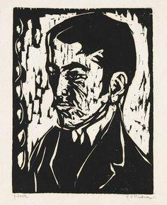 Ernst Ludwig Kirchner - Porträt H. Kind