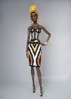 EXOTIC Nubian Dress Set for Fashion Royalty NU Face Dolls
