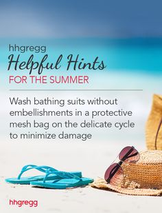 Wash bathing suits without embellishments in a protective mesh bag on the delicate cycle to minimize damage