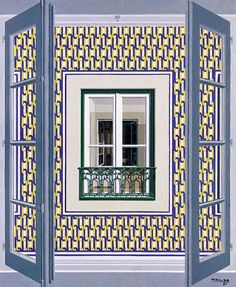 Maluda - Portuguese painter @@@¡¡¡¡¡¡€.....http://www.pinterest.com/nezahatmelike/kap%C4%B1lar%2Bpencereler/   €€€€€€€€€€€€€€€€€€€€€€€€€€€€€€€€€