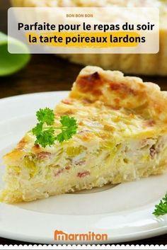 La recette de la tarte poireau lardons pour des déjeuners et des dîners au top, voire en pique-nique ! #marmiton #recettemarmiton #cuisine #recette #tartesalee #tarte #recettetarte #poireau #lardon