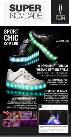 6817b016c7ec SamPés - Vizzano Tênis Sport Chic LED 1239-205 Pré Venda - comprar online